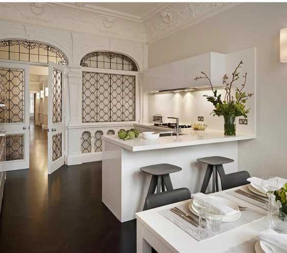 cocina moderna y rustica